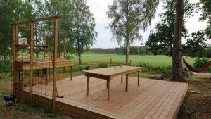Byggnation av altan med tillhörande utekök